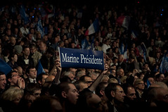"""Marine Prsidente"" (1) (Remi Noyon) Tags: paris meeting fn lections lepen znith marinelepen 17avril"