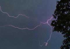 Thors Wrath (Angelina de Lioncourt) Tags: sky storm tree weather night island lightning rhode westerly purpleing