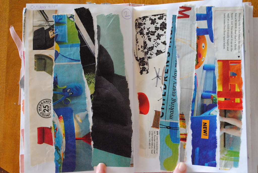 Ripped Pages (Ulixis) Tags: Red White Black Ikea Magazine Fun Grey Pages  Turquoise
