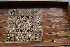 FOR SALE - Wooden Backgammon with ivory patterns (GeorgiePorgie19) Tags: wooden ivory backgammon