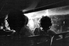 (cambond) Tags: bus film silhouette youth 35mm hair transport brisbane curly analogue expired translink ilford