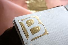 Illuminated Manuscript - Alphabet B (noriko.stardust) Tags: b art painting notebook gold leaf fine journal blogger illuminated gild study page watercolour alphabet lettering calligraphy gilded manuscript copy notebookism