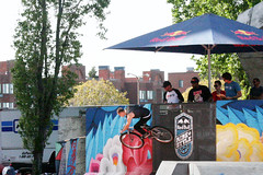 Ride & Style: On the Wall (shaire productions) Tags: sf sanfrancisco park city people urban man male guy sports bike wheel sport wall cycling photo bmx freestyle ramp image action sfo candid extreme tricks event riding photograph gathering fixedgear extremesports moment rider redbull xtreme imagery ridestyle redbullridestyle rideandstyle