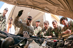 Preventive maintenance training (The U.S. Army) Tags: afghanistan af partnership ghazni ghazniprovince ansf