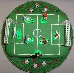 Soccer cake (Kageting.dk) Tags: cake chocolate caketopper modelling kage fodbold fondant fdselsdagskage sugarmodelling