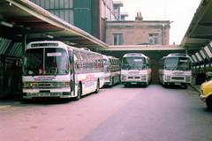 A Gaggle of National Holidays Coaches at Carlisle Citadel Station (Mark Bowerbank) Tags: station holidays citadel national carlisle coaches gaggle a