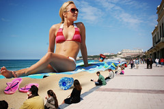 268 - Beach Bum (jacens0l0) Tags: vacation beach giant big huge hayden gigantic goliath tanning mega giantess gargantuan haydenpanettiere panettiere giantwoman