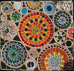 Abstract Circle Pattern (elboo104) Tags: original abstract glass booth tile ceramic manchester design beads pattern forsale recycled mosaic unique creative multicoloured elaine tobuy commissionwork elboo104