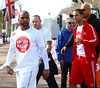 JB Gill and Marvin Humes of JLS Sainsbury's Sport Relief Mile 2012 - London