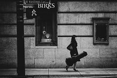 Cello girl (. Jianwei .) Tags: street urban girl lines vancouver high downtown walk candid cello heel 365 hastings birks a500 jianwei kemily