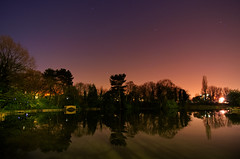 Thimblemill Pool Stars (SimonLea2012) Tags: city uk lake water pool night reflections stars birmingham orion constellation midlands smethwick greatphotographers