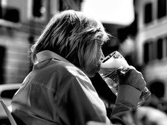 That's what I call a drink. (Baz 120) Tags: life street city portrait people urban blackandwhite bw italy rome monochrome faces candid streetphotography streetportrait olympus monotone streetphoto unposed 45mm omd decisivemoment candidportrait streetphotographer m43 streetcandid mft streetphotograph primelens em5 candidstreet candidface