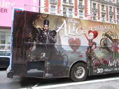 Alice Through the Looking Glass Bus Billboard 9147 (Brechtbug) Tags: street new york city nyc bus film glass cat movie tim looking cheshire near alice broadway lewis disney double billboard johnny billboards carroll through mad depp avenue wonderland 7th 42nd hatter burtons decker in 2016 05192016