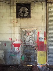 follow the red paint (photography_isn't_terrorism) Tags: door red decay explore trespass trespassing urbex