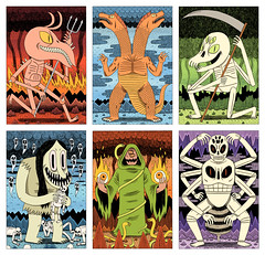 The Guide to Hell - Demons 1 (Jack Teagle) Tags: death drawing hell madness posters monsters beasts demons demonology