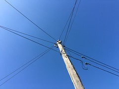 CABLES FOR THE CABLE GOD (Rantz) Tags: blue sky melbourne victoria cables 365 roger mobilography rantz cableicious doesanyonereadtagsanymore cablelicious mobilographypad2016 psad2016