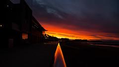 orange wedge (keith midson) Tags: sunset sky reflection tasmania handrail bannister burnie bslsc burniebeach