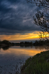 Sunset On The River Water (k009034) Tags: sunset sky people reflection nature water night clouds rural finland river evening countryside shadows no space branches dramatic nopeople scene shore copyspace dramaticsky copy tranquil springtime tranquilscene oulainen 500px pyhajoki teamcanon matkaniva