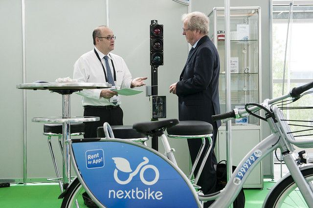 Nextbike rent by app at the exhibition