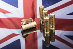 SumJune09_0064 (johnhjic) Tags: uk blue red england white english reflections studio gold nikon flag shotgun cartridges cartridge 12gauge eley siros broncolour d800e johnnjic eleyhawk