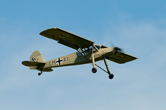 Fiesler Storch (vsturgess) Tags: old canon flying aircraft aviation military 300mm airshow german warden storch luftwaffe fiesler 400d
