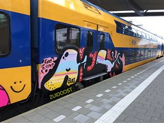 In traffic (Pictures? stuurjetroepnaarmij@yahoo.nl) Tags: graffiti zuidoost panel eindhoven trainart paintedtrain