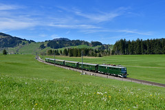 """Ae 6/6 11407 """"SBB Historic"""" Altmatt (Matthias Greinwald) Tags: zug sbb 66 historic ae bundesbahn sattel crom sonderzug bundes 11407 schweizerische altmatt kantonslok"""