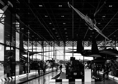 _DSC1722 (durr-architect) Tags: roof sky blackandwhite white black building history cars monochrome museum architecture modern war military hangar structure vehicles national wageningen planes infrastructure claus atrium tanks truss soesterberg