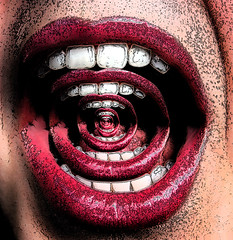 mouthpixelated (akshaykalson) Tags: art photoshop mouth dark trippy darkart