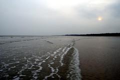 Tajpur sea beach... (Nirmalya Pandit) Tags: sunset sea beach nature nikon cloudy landskape d3300 tajpur
