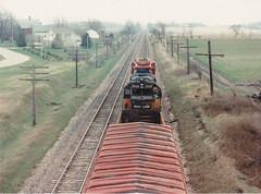 Looking back...... (MILW157) Tags: road railroad bridge ski train track sub engine slide row line milwaukee locomotive bandit soo oconomowoc 2008 watertown milw gp40 ixonia exmilw