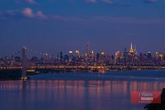 The Golden Hour in New York City (J Visions Photography) Tags: nyc newyork skyline cityscape manhattan hudsonriver goldenhour georgewashingtonbridge palisades