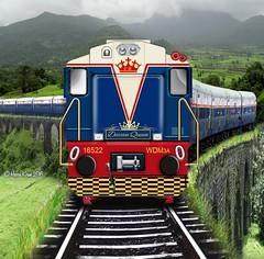 Deccan Queen Express (HARRIS KIRAN) Tags: birthday fiction diesel queen express mumbai 86 pune ghat deccan alco 16522 bhor wdm3a