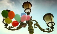 Venetian Streetlight (bjg_snaps) Tags: lamp balloons party birthday streetlight venice venezia italy italia celebration decorations charming