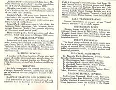 Guide to Chicago World's Fair (neshachan) Tags: chicago ephemera grantpark booklet guide garfieldpark guidebook 1934 marshallfields worldsfair washingtonpark chicagoil jacksonpark chicagoworldsfair humboltpark acenturyofprogress