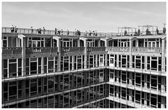 Groothandelsgebouw (Harry -[ The Travel ]- Marmot) Tags: holland nederland netherlands dutch rotterdam urban stad stedelijk moderne architectuur modern architecture groothandelsgebouw wederopbouw rotterdamviertdestad 010 olympusomdem5 allrightsreservedcontactmebyflickrmail monochroom monochrome schwarzweis zwartwit bw blackandwhite