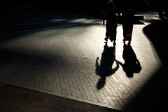 Shadow Walk (Torsten Reimer) Tags: uk england london contrast walking women europa europe shadows unitedkingdom pavement silhouettes southbank gb fujifilmx100t