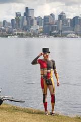 Mondrian Man (vtom61) Tags: seattle bodypaint lakeunion nikkor mondrian gasworkspark 2016 fremontsummersolsticeparade nikon2485mmf3545 nikond300s