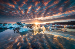 Once In A Lifetime (hpd-fotografy) Tags: arctic goldencircle iceland nordic sandinavia scenic sunrise clouds dramatic glacier ice iceberg lagoon landscape midnightsun midsummer nature seascape sky sunset water jokulsarlon