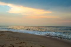 The Golden Hour? (lanalalapanda) Tags: ocean blue sunset sky beach clouds newjersey nj wave shore jerseyshore pointpleasant