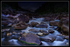 Stream, Cataract Gorge (darreng2011) Tags: longexposure water night canon dark eos lowlight rocks stream tasmania hdr launceston cataractgorge 600d duckreach mygearandme mygearandmepremium mygearandmebronze ringexcellence