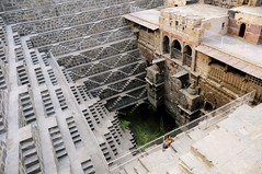 The Chand Baori stepwell at Abhaneri (Saumil U. Shah) Tags: travel india history tourism monument beautiful architecture pattern steps deep tourist historic well step escher rajasthan shah chand stepwell  saumil baori  incredibleindia saumilshah