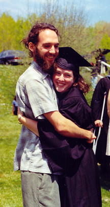 Marissa Tenenbaum Gets a Hug From Her Pal Following Commencement.