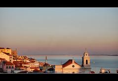 Lisbon sunset (Sante sea) Tags: sunset portugal tramonto lisboa lisbon fado lisbona portogallo miradourodesantaluzia