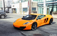 McLaren MP4-12C (Dylan King Photography) Tags: street orange canada vancouver demo nikon bc britishcolumbia side rear wheels wing mirrors spot front grill mclaren bmw parked rims coupe 1m carbonfiber spoiler 458 ferrar d90 airbrake mp412c
