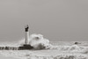 The Lake was Angry that Day, My Friends (Mike Wood Photography) Tags: winter sky blackandwhite bw lake ontario canada storm water grey noir waves lakeerie greatlakes arr marker blanc channel allrightsreserved crashing mikewood frothing mikewoodphotography