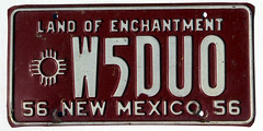 New Mexico amateur radio (sixes & sevens) Tags: new mexico license plates 1956 nm licenseplates