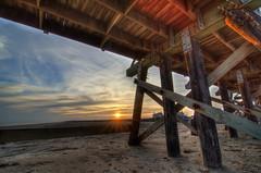 Quintana Sunset (J Labrador) Tags: sunset sky usa beach landscape photography fishing nikon texas boardwalk gulfcoast quintana quintanabeach d7000