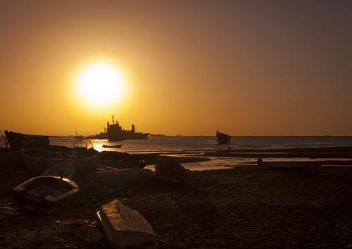 Boats Near Beach At Dusk, Berbera Somaliland