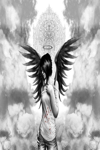 Emo Angel Girl Wallpaper 4 Apples Iphone 4 And Iphone 4s